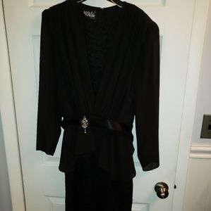 Vintage Ursula black cocktail dress